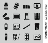 tablet icons set. set of 16... | Shutterstock .eps vector #631830452