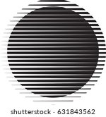 circle logo with lines.unusual... | Shutterstock .eps vector #631843562