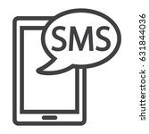sms line icon  contact us and...