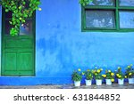 Country House With Blue Colore...