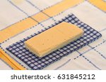 wafer and napkin in a section...   Shutterstock . vector #631845212