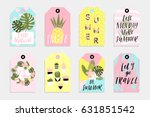 summer set of sale and gift... | Shutterstock .eps vector #631851542