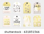 cute summer tags set for your... | Shutterstock .eps vector #631851566