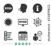 byod icons. human with notebook ... | Shutterstock .eps vector #631859822