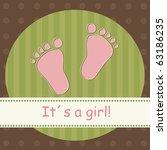 baby girl feeds  vector | Shutterstock .eps vector #63186235