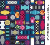 seamless pattern with different ...   Shutterstock .eps vector #631865072