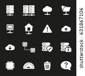 vector white ftp icons set on... | Shutterstock .eps vector #631867106