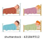 sweet dream sleep man woman... | Shutterstock .eps vector #631869512