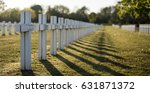 military graveyard with white... | Shutterstock . vector #631871372