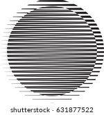 circle logo with lines.unusual... | Shutterstock .eps vector #631877522