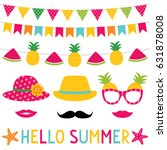 summer party bunting decoration ... | Shutterstock .eps vector #631878008