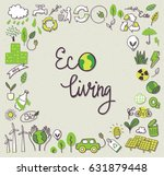 ecology themed doodle  | Shutterstock .eps vector #631879448