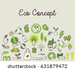 ecology themed doodle  | Shutterstock .eps vector #631879472
