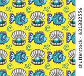 sea travel seamless background... | Shutterstock .eps vector #631882556