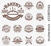 bakery badge icon fashion... | Shutterstock .eps vector #631885466