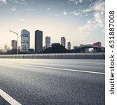 empty asphalt road of a modern... | Shutterstock . vector #631887008