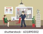police office room.... | Shutterstock .eps vector #631890302