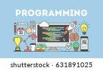 programming concept...   Shutterstock .eps vector #631891025