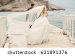 beautiful wedding couple bride... | Shutterstock . vector #631891376