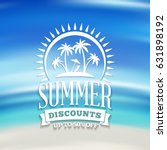 summer sale banner. typographic ... | Shutterstock .eps vector #631898192