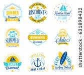 set of summer sale promotional... | Shutterstock .eps vector #631898432