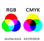 rgb and smyk color mode  wheel... | Shutterstock .eps vector #631902818