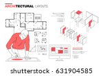 architectural layouts in trendy ... | Shutterstock .eps vector #631904585