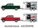 pickup pulling horse trailer in ...