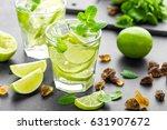 summer mint lime refreshing... | Shutterstock . vector #631907672
