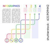 infographics template 4 options ... | Shutterstock .eps vector #631909442