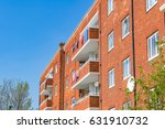 council housing block in east... | Shutterstock . vector #631910732