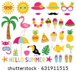 summer design elements and... | Shutterstock .eps vector #631911515