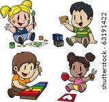 Cute Cartoon Preschool Kids....