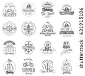 set of summer rental emblem... | Shutterstock .eps vector #631915106