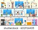 furniture store interior.... | Shutterstock .eps vector #631916435