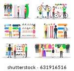 sport store interior.... | Shutterstock .eps vector #631916516