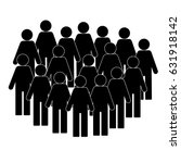 illustration of crowd of people ... | Shutterstock .eps vector #631918142
