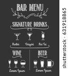 bar chalkboard menu. signature...   Shutterstock .eps vector #631918865