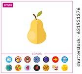 ripe pear icon | Shutterstock .eps vector #631921376