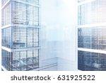 exterior of a white skyscraper... | Shutterstock . vector #631925522