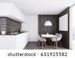 Kitchen Interior With Dark...
