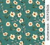 seamless floral pattern with... | Shutterstock . vector #631925636