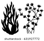 sea weed black silhouettes ...   Shutterstock .eps vector #631927772
