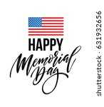 happy memorial day card.... | Shutterstock .eps vector #631932656