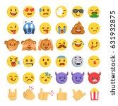 Cartoon Emoji Collection. Set...