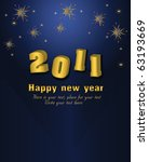 2011 happy new year vector card | Shutterstock .eps vector #63193669