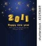 2011 happy new year vector card | Shutterstock .eps vector #63193669