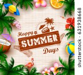 illustration of summer time... | Shutterstock .eps vector #631938668