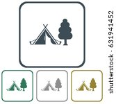 stylized icon of tourist tent.... | Shutterstock .eps vector #631941452