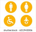 toilet sign  | Shutterstock . vector #631943006